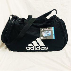 Adidas Black and White Medium Sized Duffle Gym Bag
